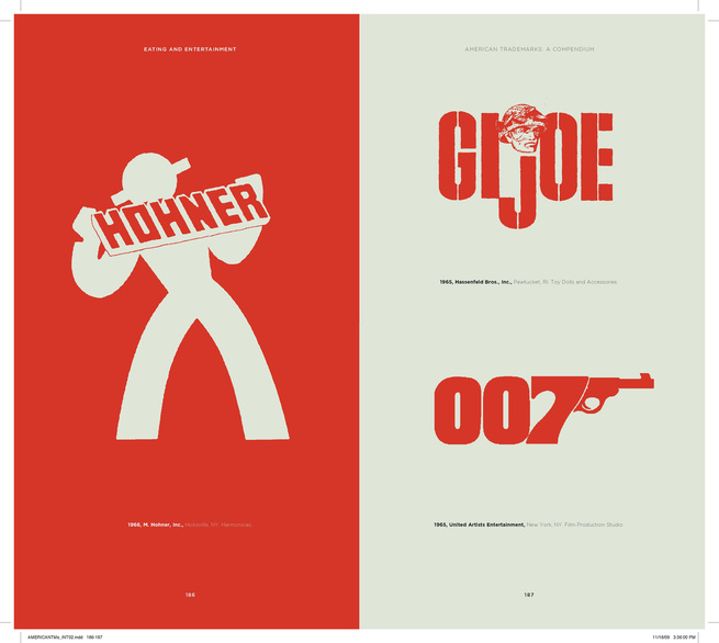 Easily one of the most iconic logs of the 1960s, James Bond's 007 trademark still feels groovy, sexy, and sophisticated. This GI Joe tradmark from 1965 certainly isn't the one I grew up with, though I like Joe's face.