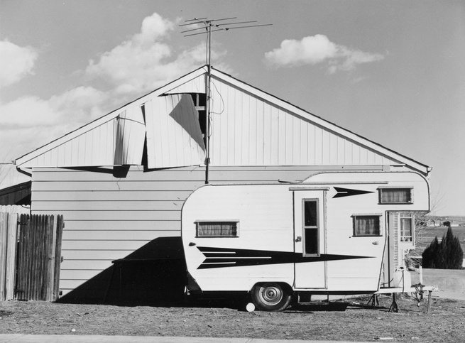Robert Adams (American, b. 1937), <i>Tract House, Westminster, Colorado</i>, 1974; George Eastman House collections;© Robert Adams, courtesy of Fraenkel Gallery, San Francisco, and Matthew Marks Gallery, New York