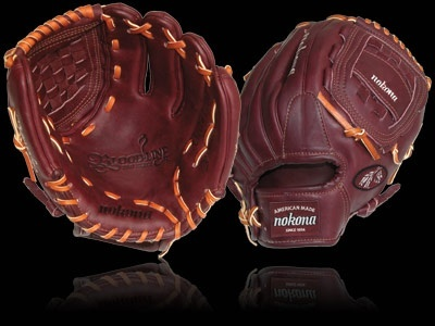 Here's a Bloodline Pro Elite glove by Nokona. It's made in Nocona, Texas, where the company has been making baseball gear since 1934.