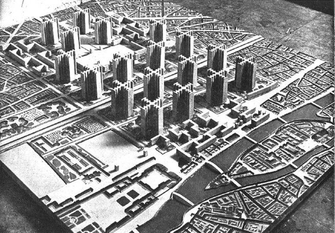"Le Corbusier's 1925 Plan Voisin remade Paris in a new image.Image courtesy <a href=""http://books.simonandschuster.com/Makeshift-Metropolis/Witold-Rybczynski/9781416561255"">Makeshift Metropolis</a>"
