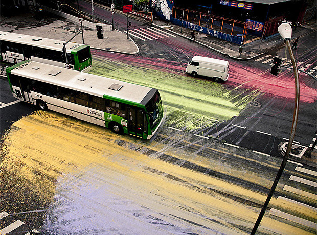 "<a href=""http://urbanshit.de/?p=8264"">Painting the Streets</a> of Sao Paulo."