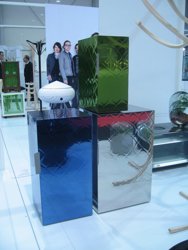 """The French love their young talent, and they dedicated a lot of the fair booths to them. Here, <a href=""""http://www.mathieulehanneur.com/"""">Mathieu Lehanneur</a>'s Delicious, Storage Boxes for <a href=""""http://www.toolsgalerie.com/"""">Tools Galerie</a> are dis"""
