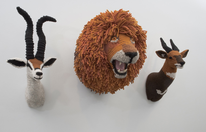 nathan vincent crochet Gazelle Lion Bushbuck