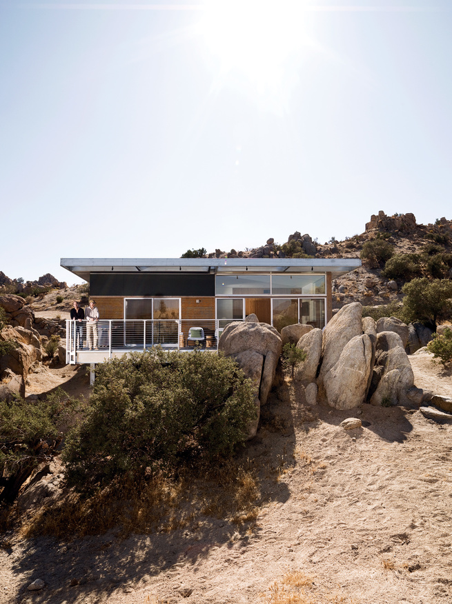 The Blue Sky prototype house leads a second life as desert getaway for David McAdam and his partner Scott Smith.