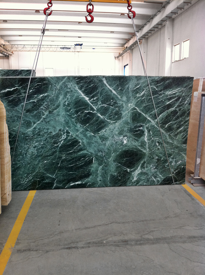 sourced green marble Mies