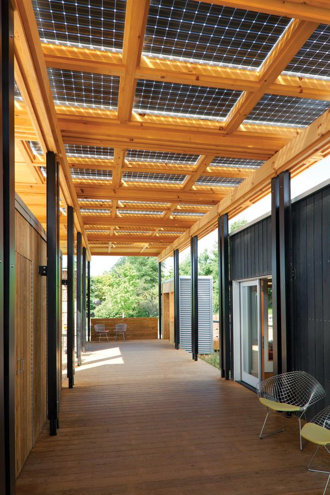 Energy Solar Decathlon show home solar panels