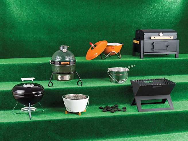 Modern portable barbeque grillers