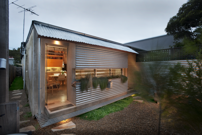 Compact Australian Home Clad in Steel and Concrete