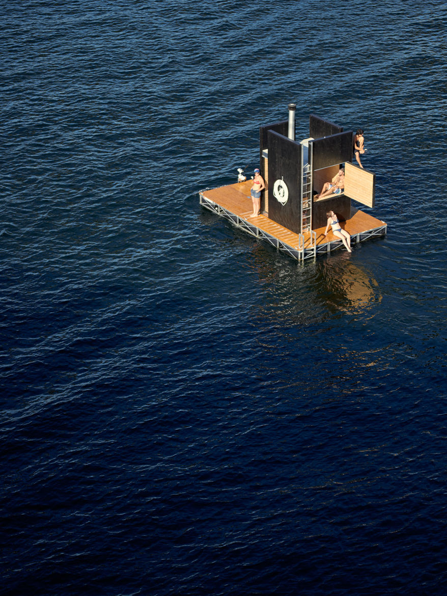 green architecture seattle floating sauna