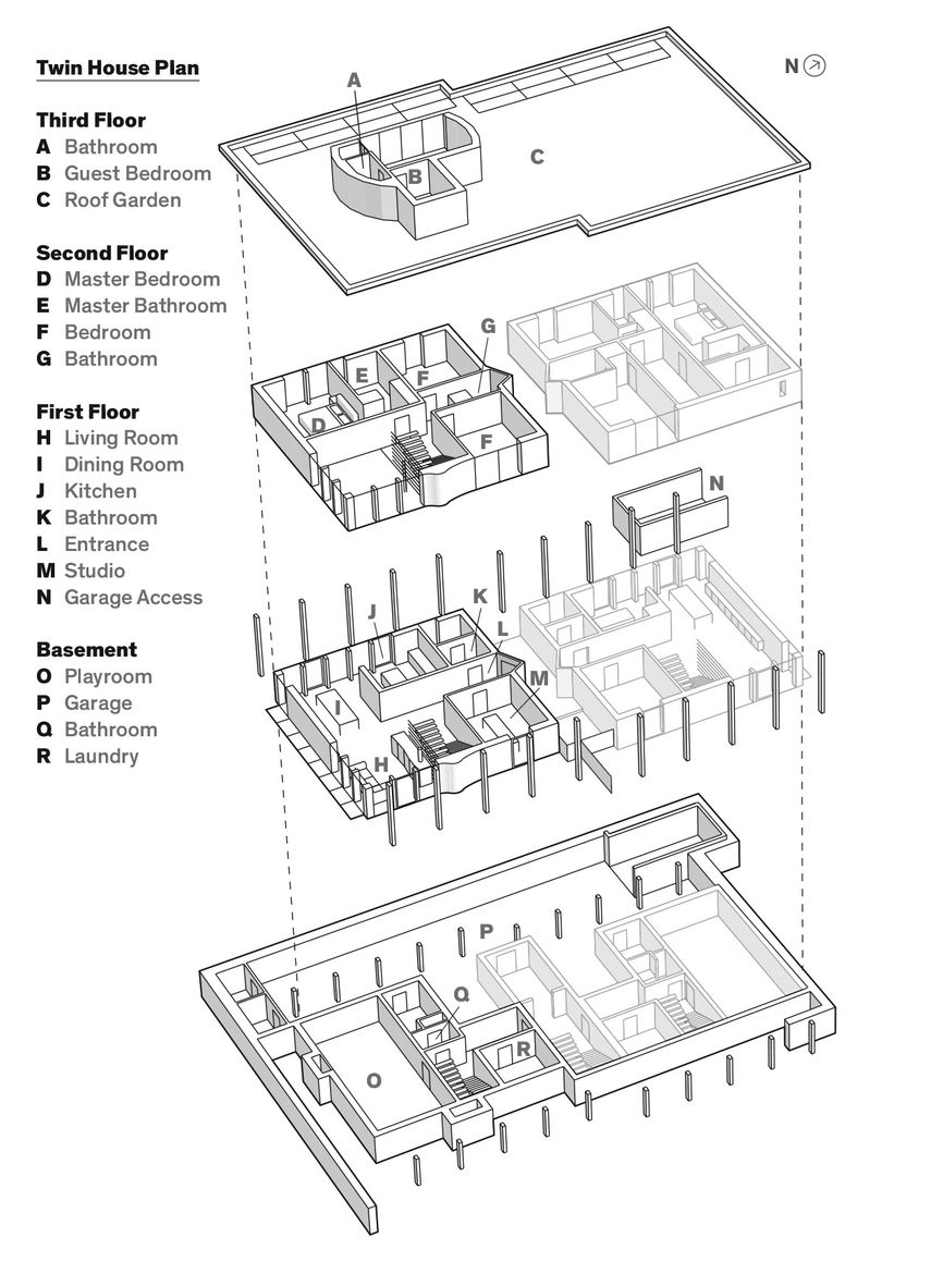 Floor Plan Of Twin House Dwell