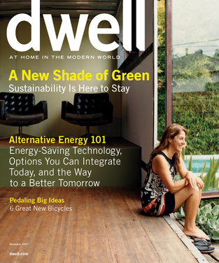 dwell cover 2007 november a new shade of green
