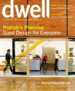 dwell cover 2005 april prefabs promise