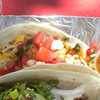 Since it was the most recommended must-do from Dwell Twitter followers (from the likes of @sarahrich, @ladygodiva1234, and @bayne16thstate, among others), Torchy's was my truck of choice. The gal at the counter recommended a green chili pork taco and a chicken fajita taco (though I wished I'd had had room for a fried avocado taco, too!).  Photo by: Miyoko Ohtake