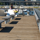 Another PWL piece your city wishes it had, the Olympic Village. A mix of street furniture designed for the Olympic Village in Vancouver offers swiveled chairs (all comforts of home right on the waterfront!) with oversized white loungers. Both get plenty of use by people looking to either relax or take in the urban waterfront sites on the newly designed boardwalk.