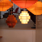 Reykjavik's premier design store, Epal, celebrated over 30 years in business by giving up its top floor to 20 local designers. A real bright spot were DEMO Workshop's hanging lamps, each handmade of teak, maple, or pine veneer with pick-and-choose cord colors to match your decor.