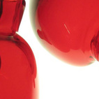 """You've probably seen Sigga Heimis' designs at Ikea; in fact, chances are you have a few in your home. (She's done over a 100.) What really struck me at DesignMarch were these """"Organ Glasses,"""" blood-red handblown decorative glassware Heimis originally did for the Vitra Design Museum. """"They are fragile, like the human organs themselves,"""" she said."""