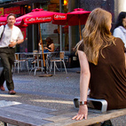From our series street furniture your city wishes it had, we give you the Granville Bench by PWL. By mixing native materials (the wood) with urban flair (the metal), PWL Partnership's Derek Lee led the in-house design of new street furniture for Granville Street in downtown Vancouver. The benches' raised arm rests provide resistance from skateboarders, but also a provide a variety of gathering options.  Courtesy of Copyright © 2011 Maurice Li.