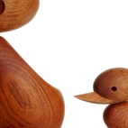 """The Duck and Ducklings are another Hans Bølling design. Bølling, now in his 80s, recently told Architectmade head of sales Shari Rana that the Ducklings don't have eyes where the Ducks do because """"a child doesn't see the world in the same way as an adult.""""  Courtesy of                                                                                                                                 ."""