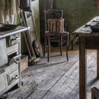 """Old Kitchen photographed in Luxembourg by Jean-Claud """"Shantideva"""" Berens."""