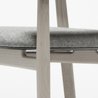 Flindt's chair design is a clear nod to the work of Hans Wegner.