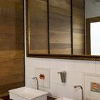 The elegant design extends through the washrooms. Collaborating on the project was interior designer Maria Eugenia Alvarez-Calderon.