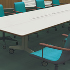 Designer Hans Sandgren Jakobsen's chair design also had an Oxford-like look to it.