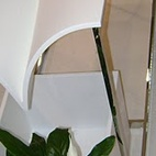 Gau Designs & Concepts, a Montreal-based multi-disciplinary design studio led by Jean-Michel Gauvreau, used Corian to create a very fluid design that would work beautifully as an outdoor piece. Placed above a flower pot, the design effectively diverts rainwater to thirsty plants below.