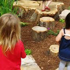 Step 5: Make a Path Children love to follow a path. Use stepping stones, or bricks, or large rocks or slabs cut from a tree trunk to weave even a short trail through your grasses or along your hill.Image courtesy of Paul Horne at Pittsboro Parks.