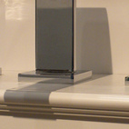 Rohl displayed its new Wave line of bathroom faucets, which includes an outdoor showered.
