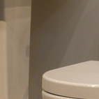 Rohl also displayed a new dual-flush toilet, made in collaboration with French company Allia.