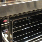 Fisher & Paykel, known for their dish drawers, also had on display their new under-counter convection ovens.