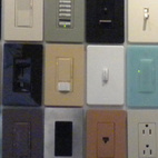 Lutron displayed its variety of lighting systems and products, from LED dimmers to colorful plug plates. The plates are available in over 24 colors.