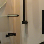 The all-black Xenon bathroom collection by Samuel Heath stopped many a passerby.