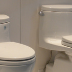 Toto had its lineup of low-water toilets on display as well as its washlets, sinks, and faucets.