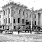 Here's a picture of the Old Mint from 1889. It still stands at the corner of Mission St. and Fifth St. in large part thanks to it's foundation, which rests of loose gravel and soil, allowing the building to roll and shift during the 1906 earthquake instead of cracking and splitting apart.