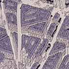 Map of Paris, dress fabric. Ralph Barton/Stehli Silks Corporation. Crêpe de Chine. USA, 1927 (V&A: T.87I-1930). From V&A Pattern Series II: Novelty Patterns published by V&A Publishing and Abrams Books.
