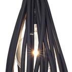 The Hanging Lamp, by Rodrigo Alegre and Carlos Acosta, is made from rubber cord and can be hung from a ceiling with an eye bolt.  Courtesy of © MoMA 2011.