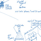 Sketches of the Boite en Valise by Adam Kalkin. Page from Quik Build: Adam Kalkin's ABC of Container Architecture. Courtesy of Adam Kalkin.