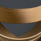 The design duo made a series of six of these Bamboo Chairs. Two will be at Industry Gallery.