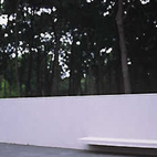 Richard Meier, another Pritzker Prize winner, at his home in East Hampton.    Photo by: Richard Schulman