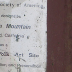 This little plaque is embedded in one of the mountain's supports. I love how the only official documentation in the place is in such an unassuming place. It doesn't exactly scream God is Love, but it's nice to see some outside appreciation for what Knight has done.