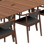 Designer Søren Ulrik Petersen's chair design also appears Wegner-inspired.