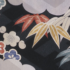 Under kimono, figured twill silk with printed decoration. Japan, 1940-50 (V&A: FE.14-1987). From V&A Pattern Series II: Kimono published by V&A Publishing and Abrams Books.