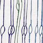 "The simple links of ""Fibra"" break up the lines of Esther Haraszty's furnishing fabric for Knoll. 1953, from The Fifties."