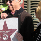 William Krisel accepting his Walk of Stars plaque in Palm Springs, California, in early 2009.