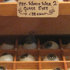 From the not-something-you-see-everyday files: Pre-WWII glass eyes at the Otherist.  Photo by Jordan Kushins.