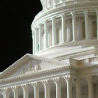 Plaster model of United States Capitol, Model by Timothy Richards, Bath, England. Image courtesy of RIBA Library Drawings and Archives Collections