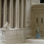 Plaster model of United States Supreme Court, Model by Timothy Richards, Bath, England. Image courtesy of RIBA Library Drawings and Archives Collections
