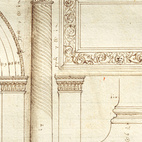 Measured drawing of the Arch of Jupiter Ammon, Verona, ca. 1540. Image courtesy of RIBA Library Drawings and Archives Collections