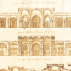 Conjectural reconstruction of the Baths of Diocletian, Rome, 1540s. Image courtesy of RIBA Library Drawings and Archives Collections